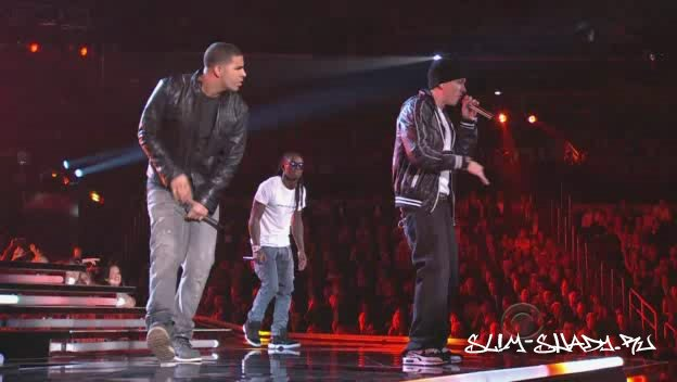 Eminem Live @ Grammy Awards 2010 Feat. Lil Wayne & Drake - Drop The World-Forever HDTV
